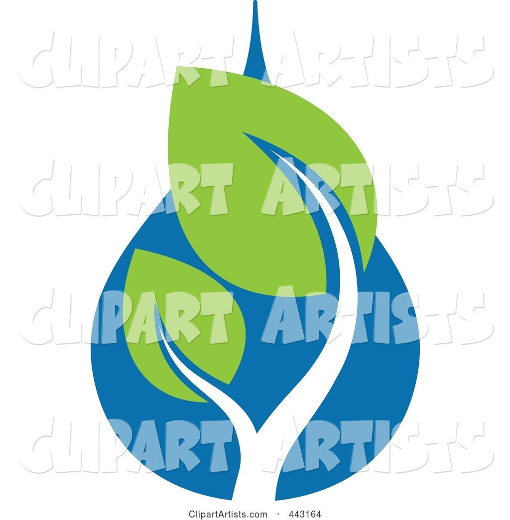 Green and Blue Ecology Logo Icon - 21