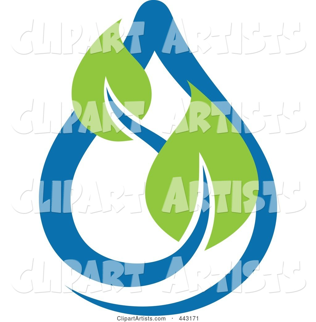 Green and Blue Ecology Logo Icon - 5