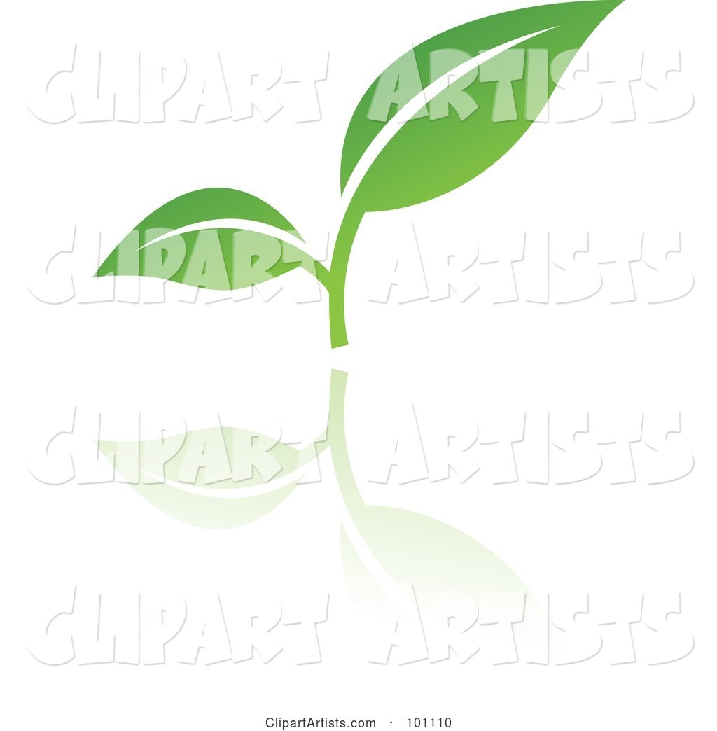Green Leaf Logo Icon - 3
