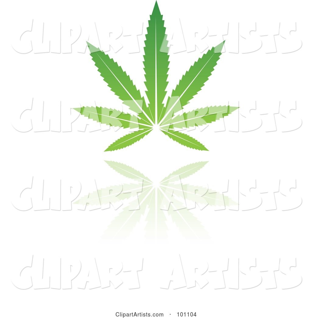 Green Leaf Logo Icon - 5