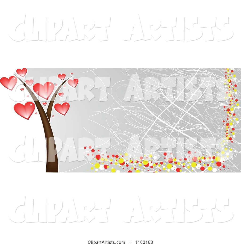 Grungy Heart Tree Website Banner