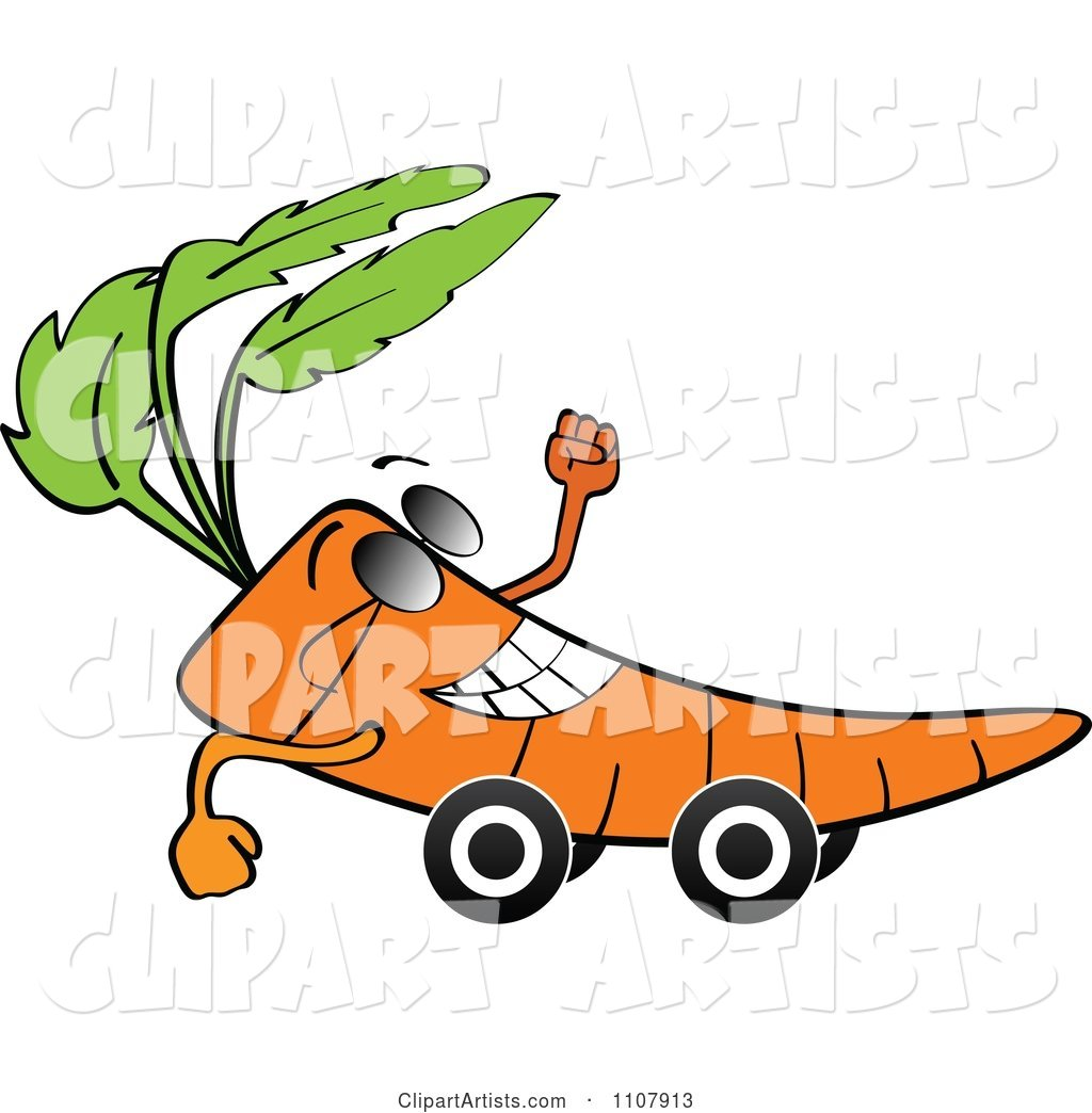Happy Carrot on Wheels