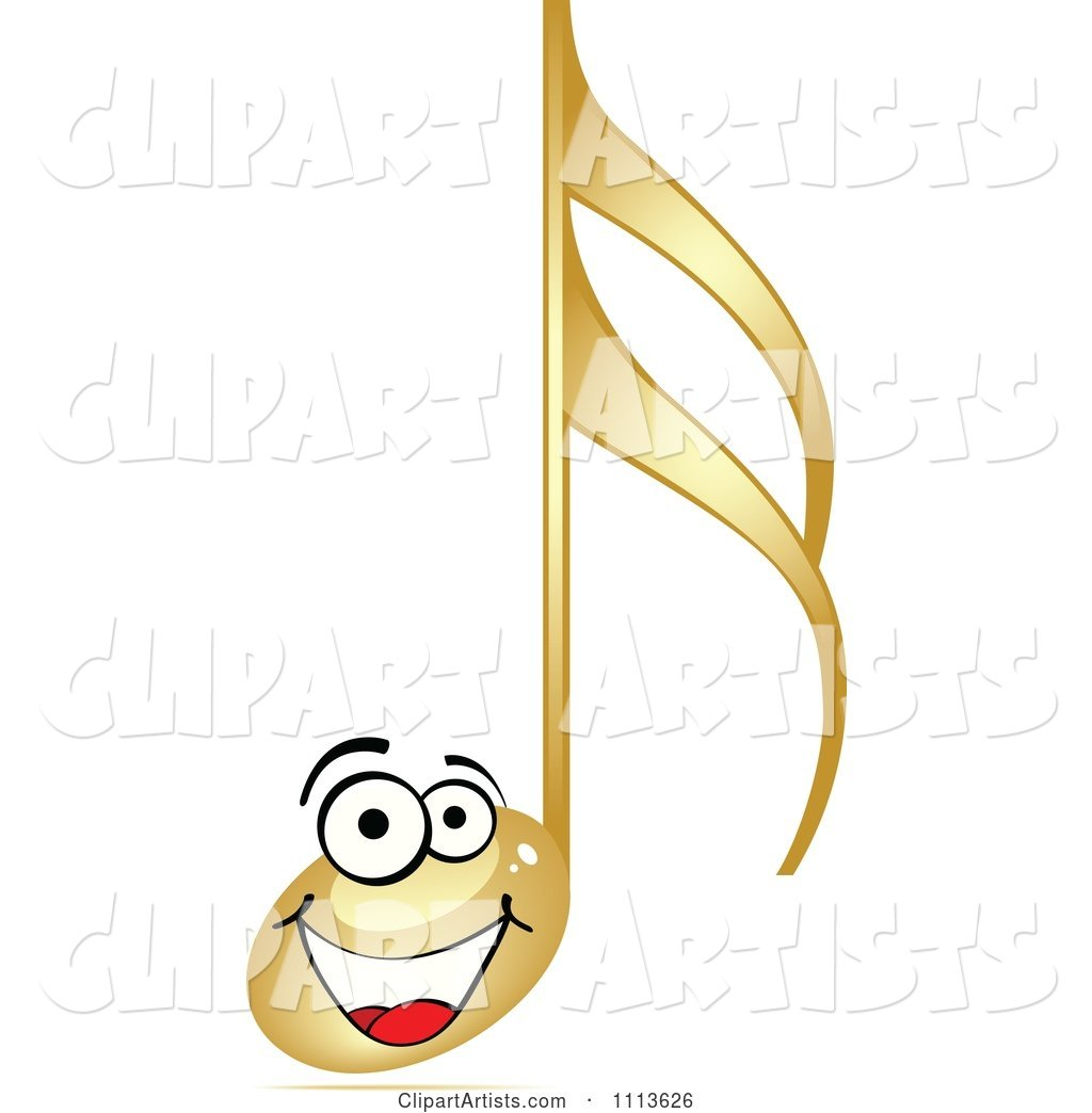 Happy Gold Music Note