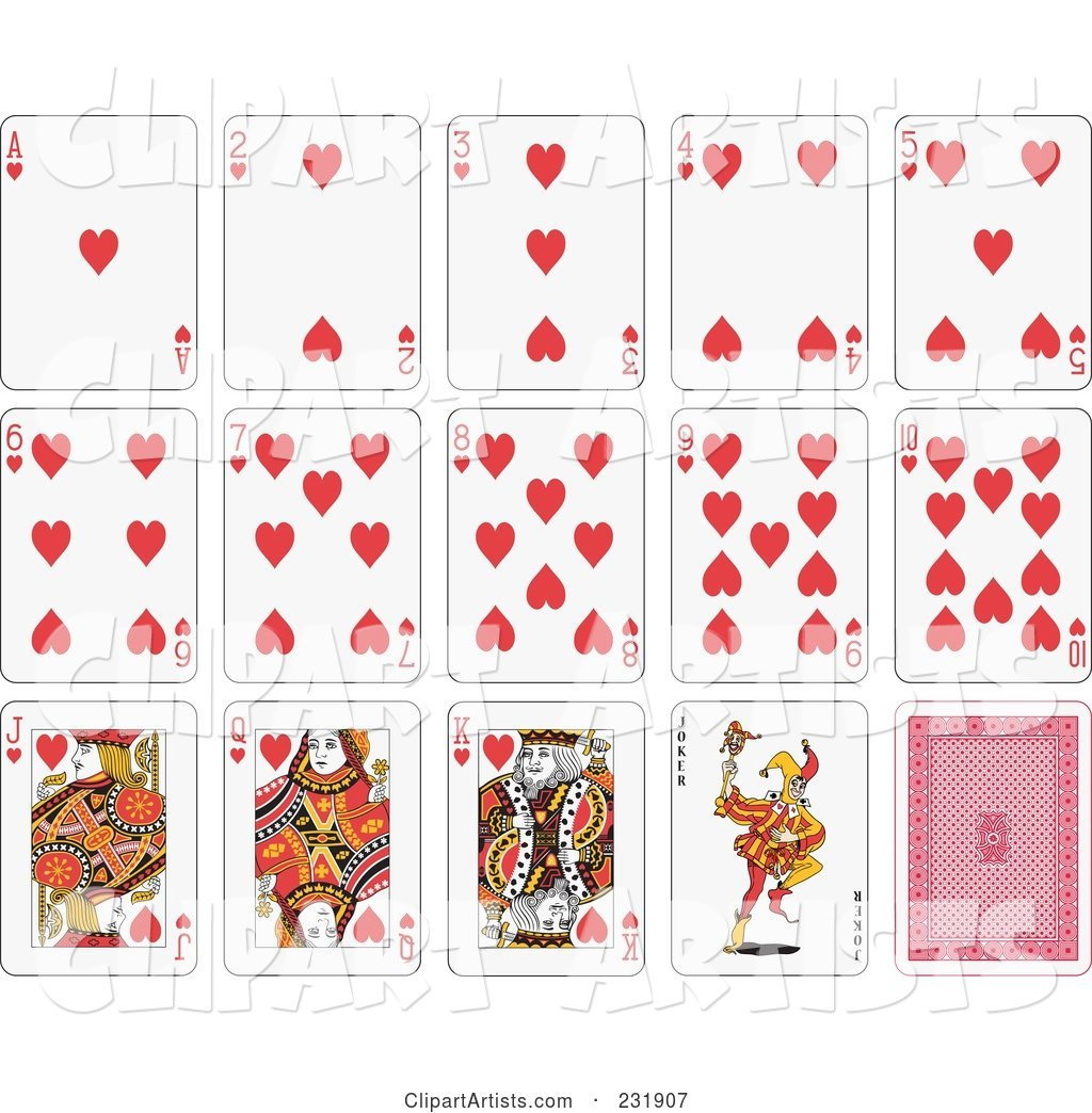 House of Heart Playing Cards