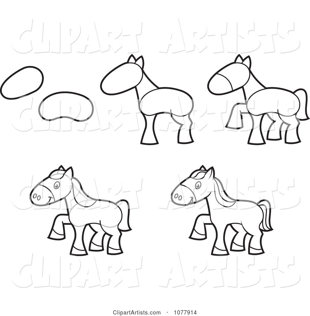 How to Draw a Horse Sketches