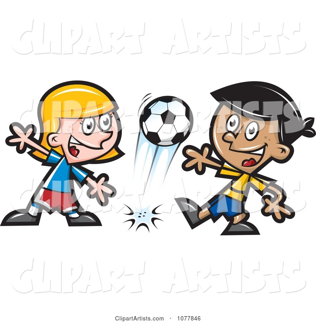 Kids Playing Soccer 1