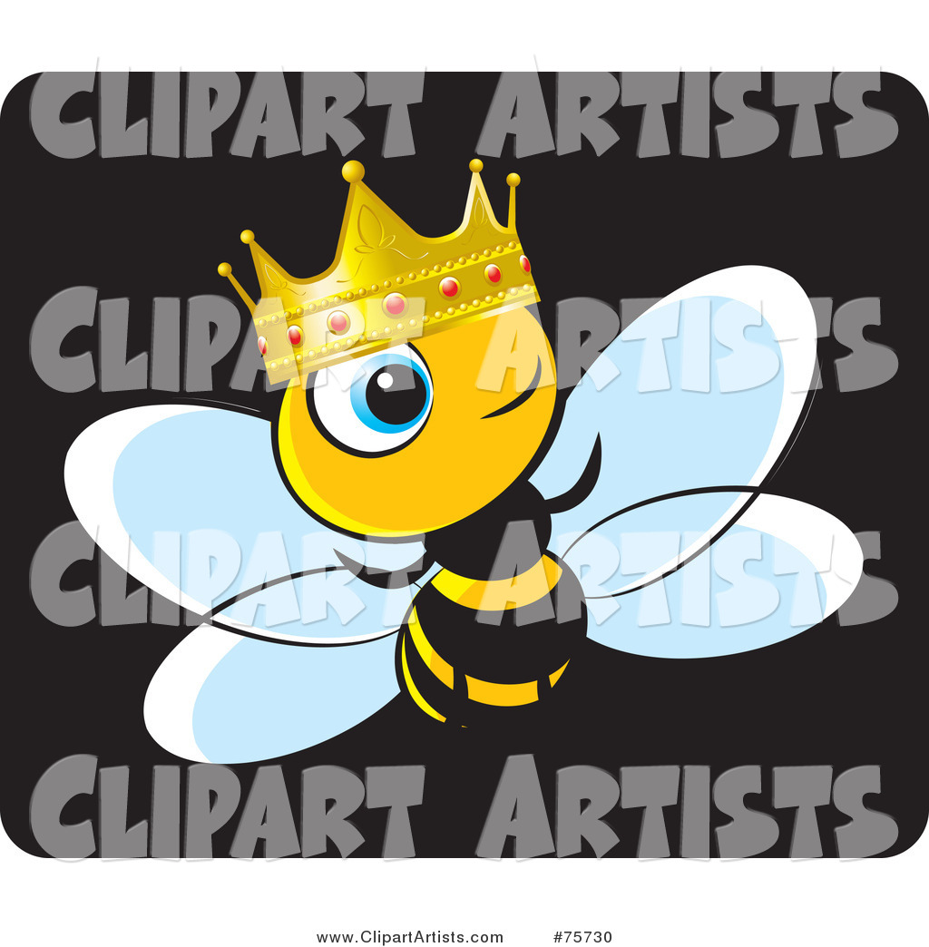 King Bee Wearing a Gold and Ruby Crown