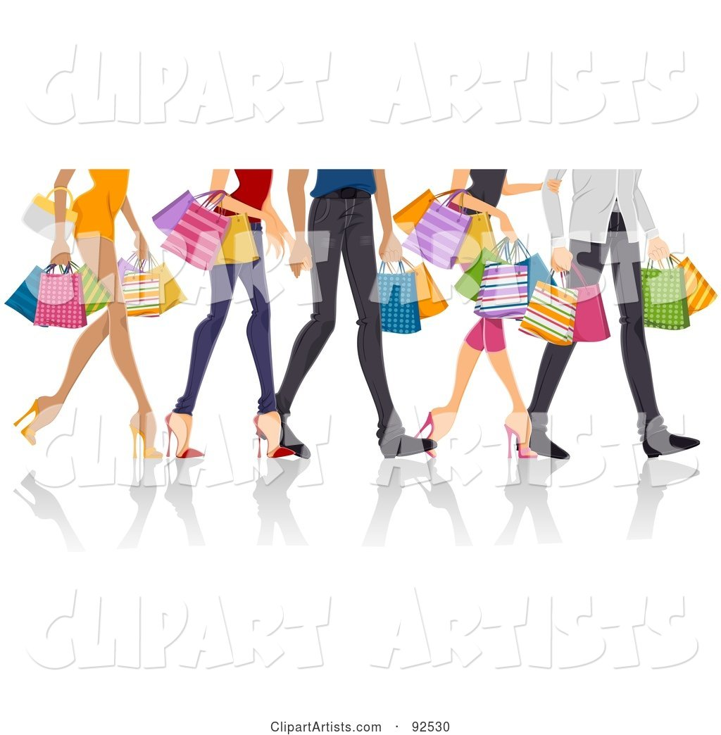 Legs of Shopping Adults