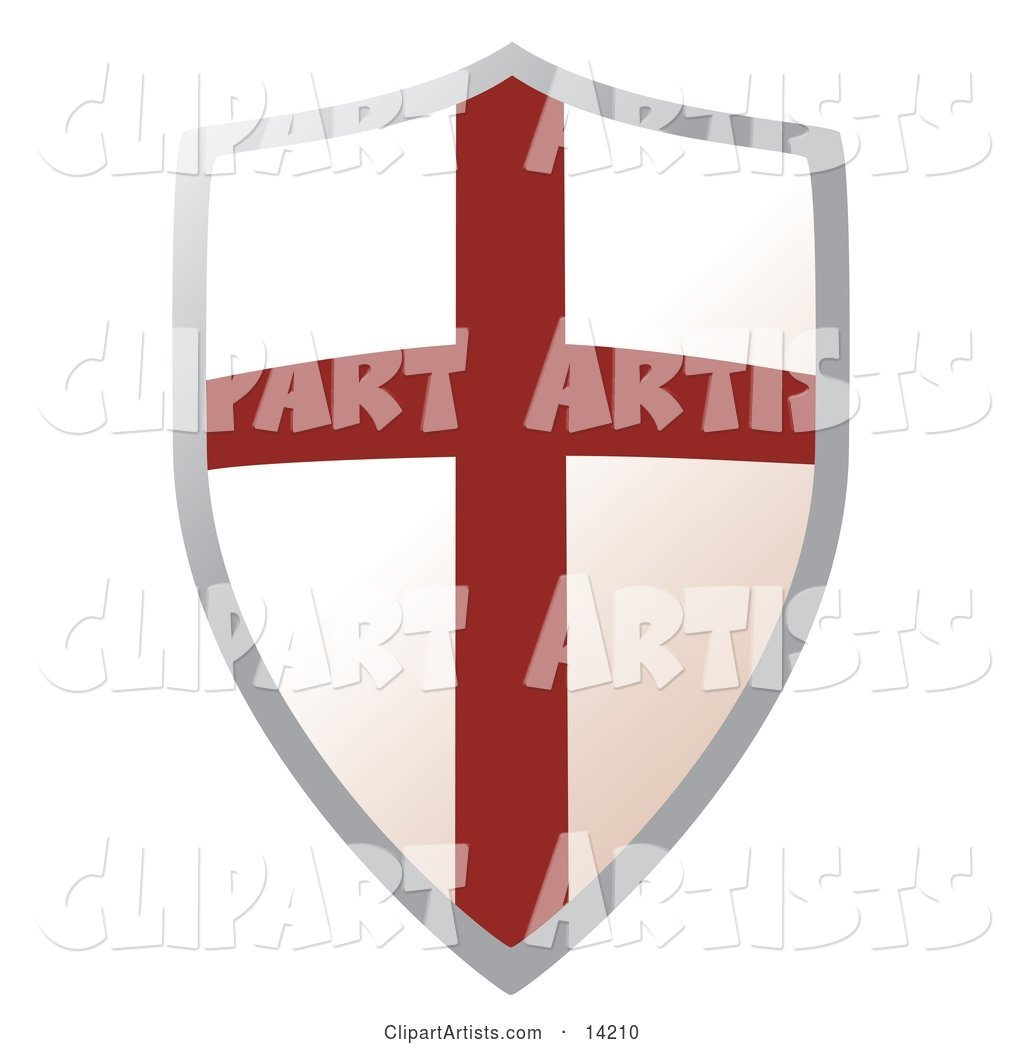 Metal Shield with a Cross