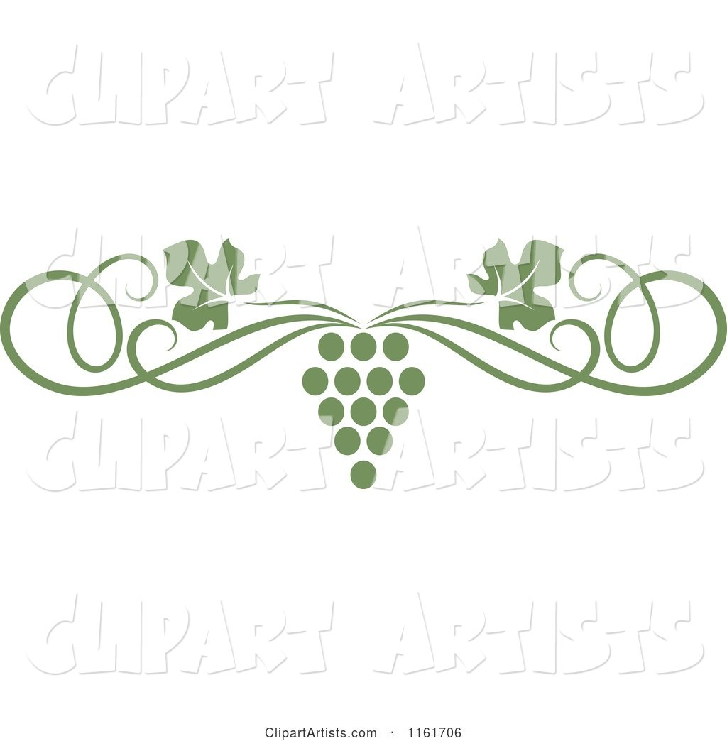 Olive green grape vine and swirl page border clipart by seamartini olive green grape vine and swirl page border thecheapjerseys Image collections