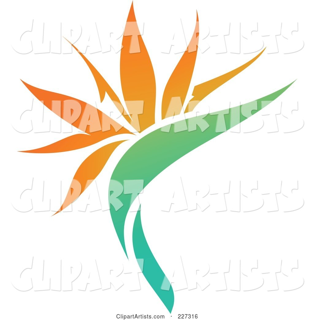 Orange Flower Logo Icon - 11