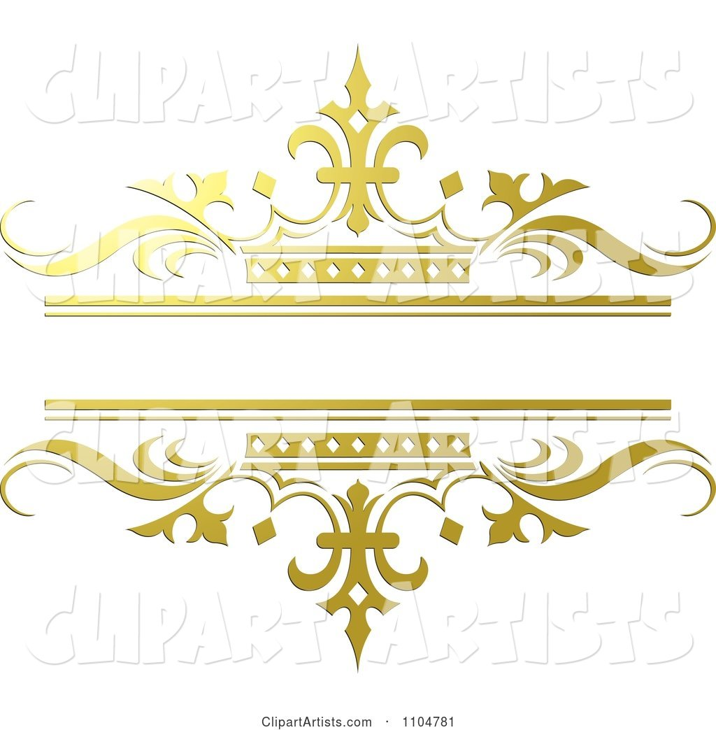 Ornate Gold and Crown Wedding Frame