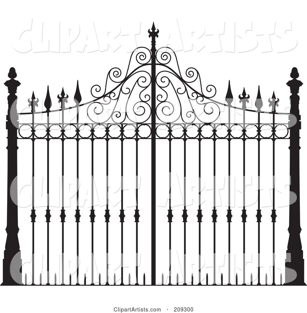 Ornate Wrought Iron Gate