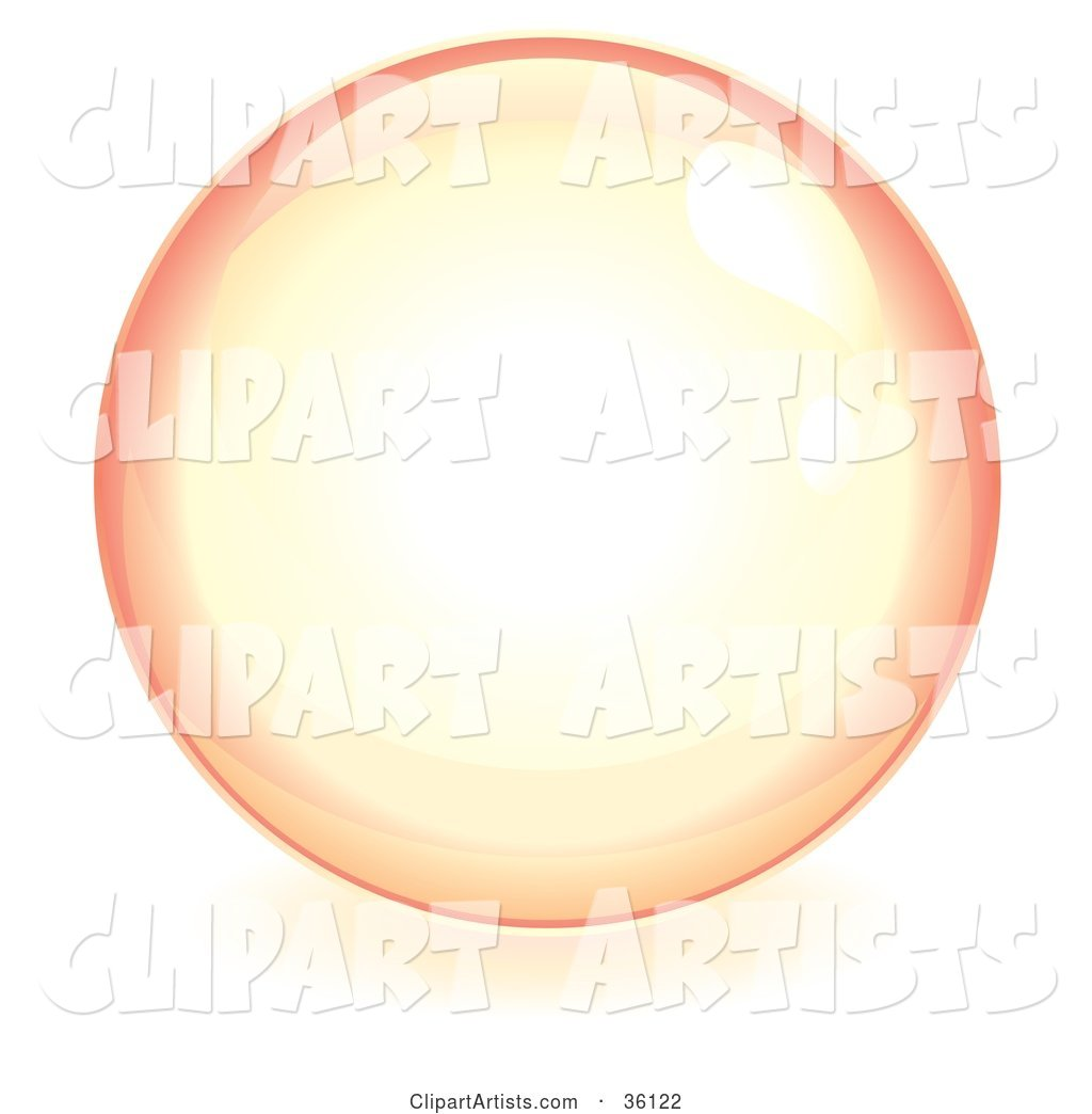 Pastel Pink Reflective Crystal Ball, Marble or Orb