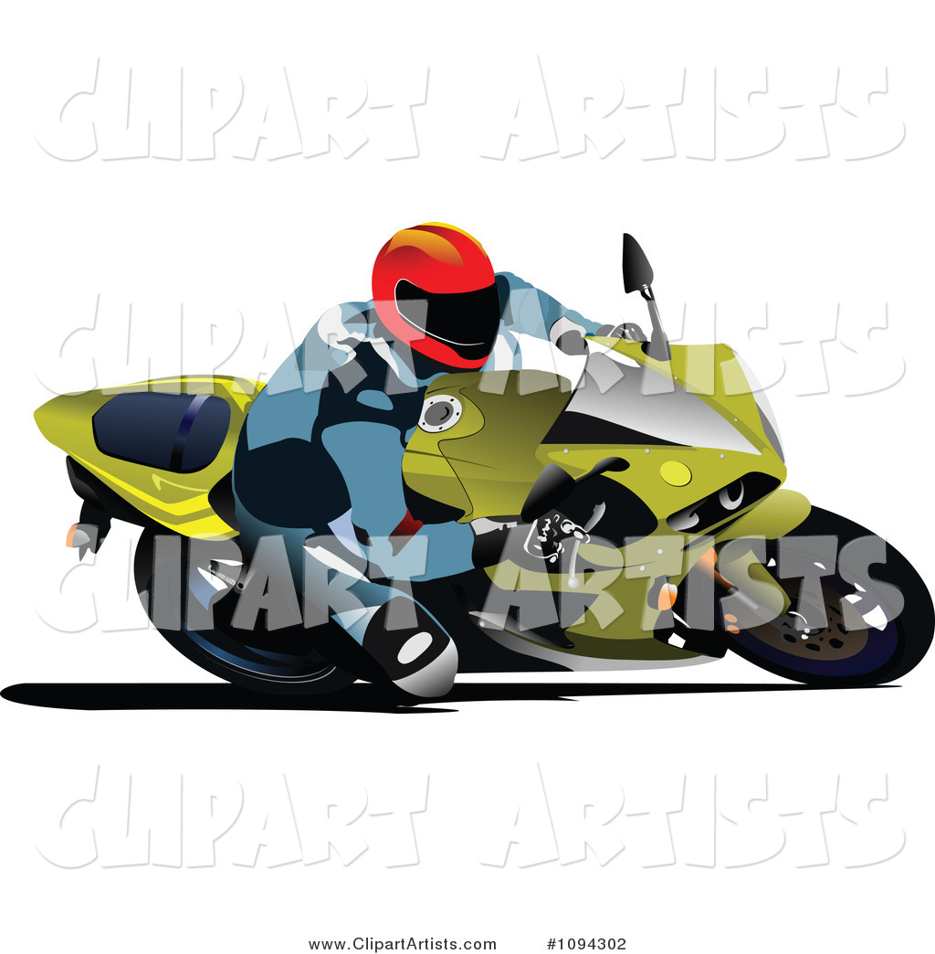 Person Riding a Motorcycle 6