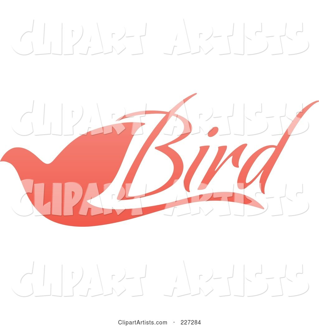 Pink Flying Dove Bird Logo