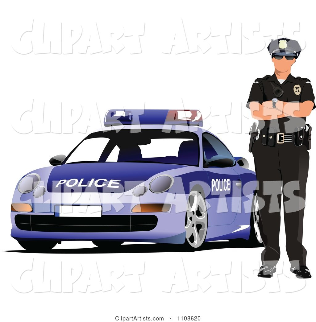 Police Officer by His Cop Car 2