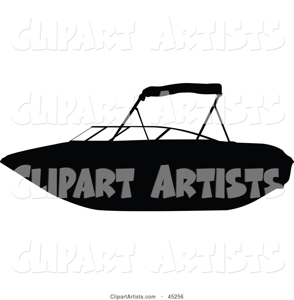 Profiled Black Personal Boat Silhouette