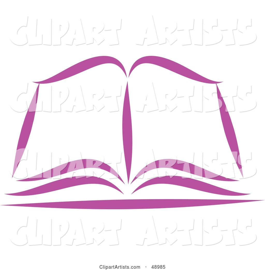 Purple Open Bible or Book
