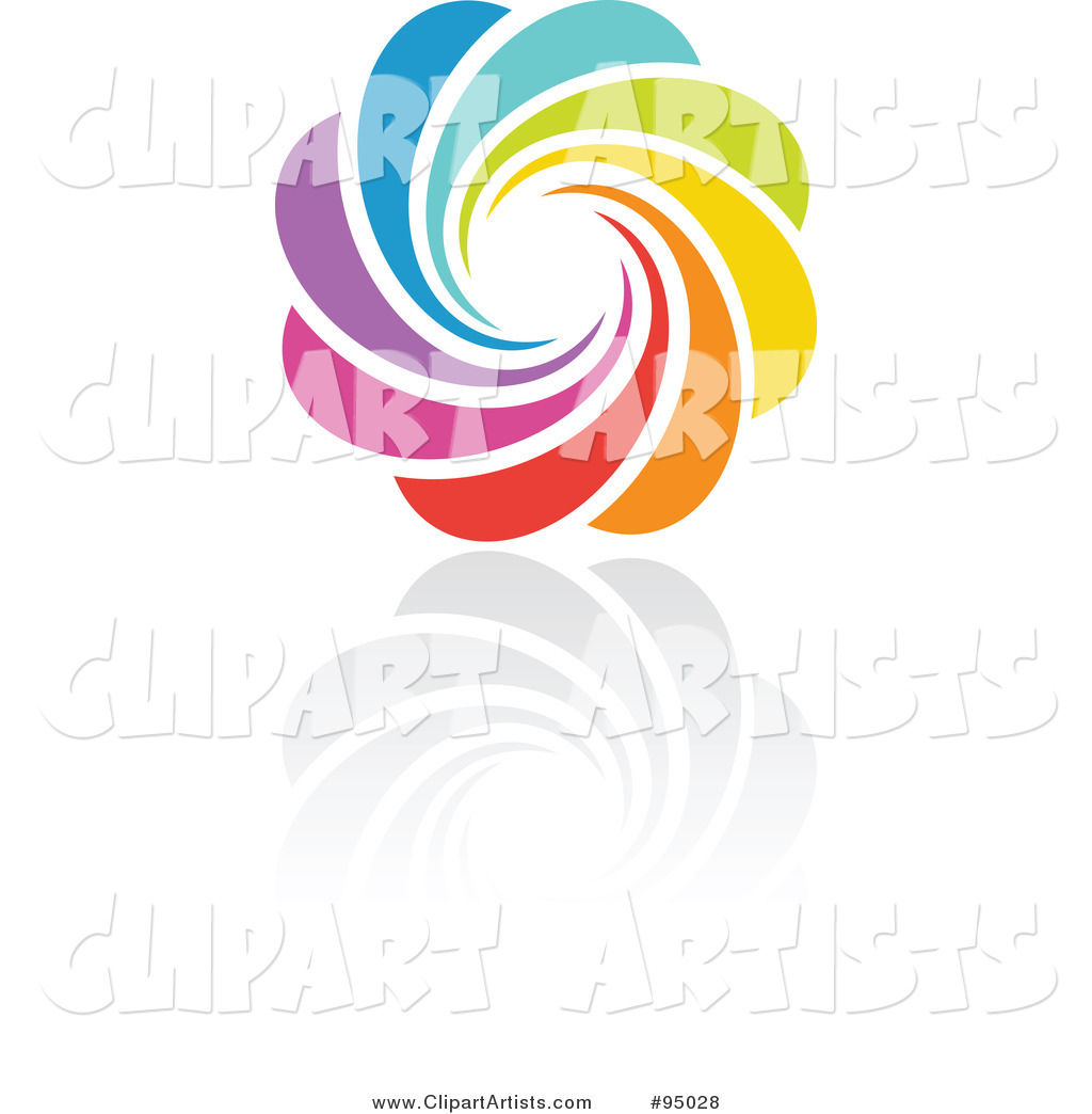Rainbow Circle Logo Design or App Icon - 4