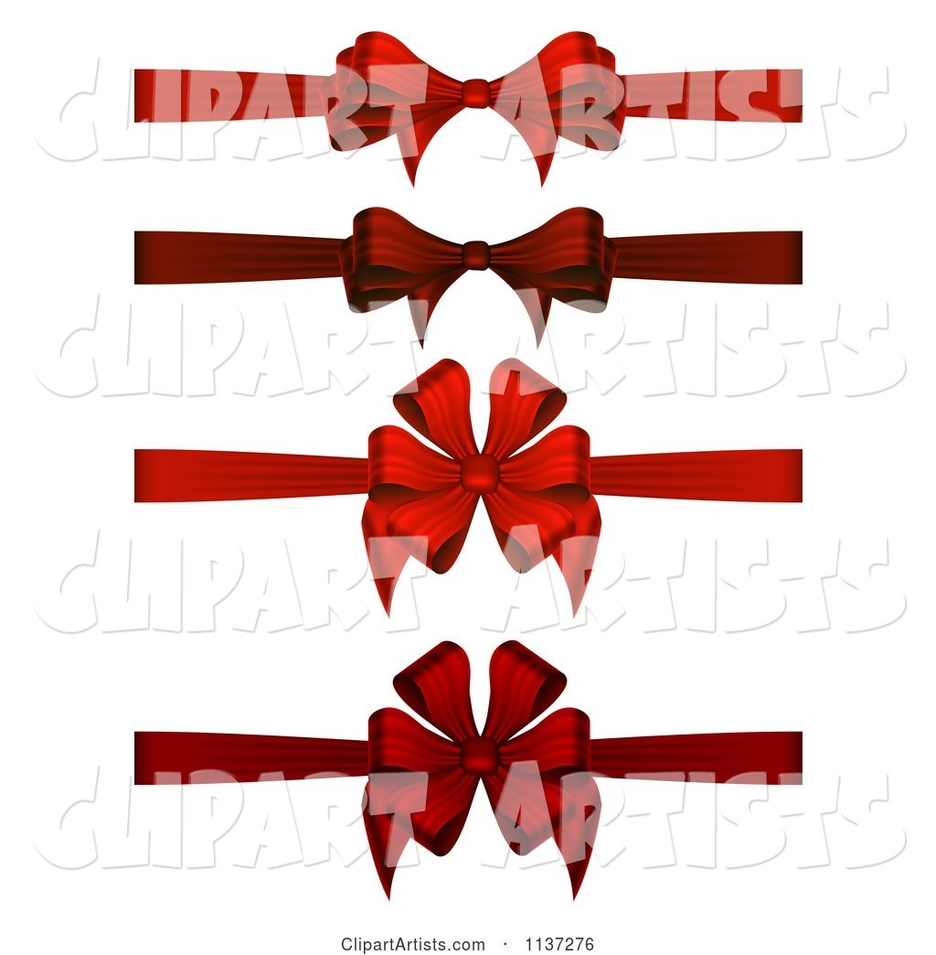 Red Christmas Gift Bows and Ribbons