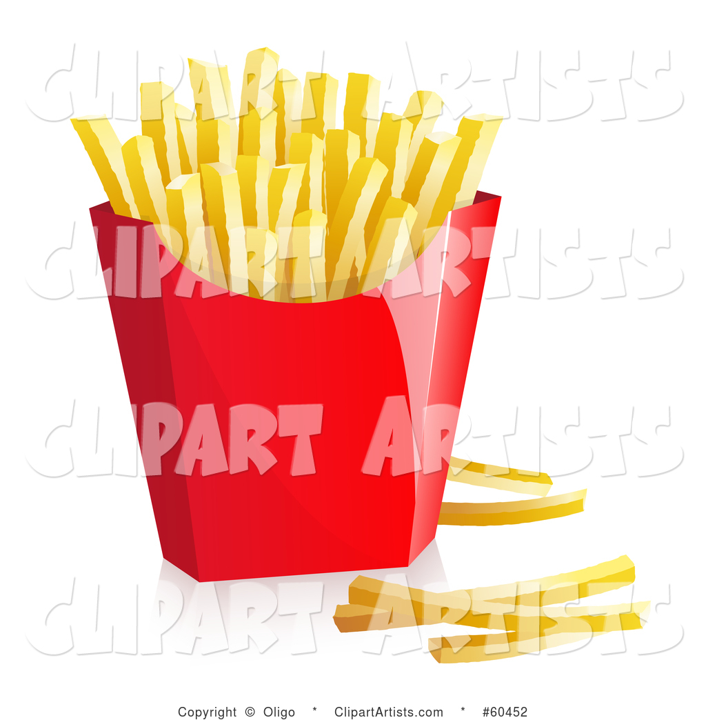 Red Container of Fast Food French Fries - Version 1
