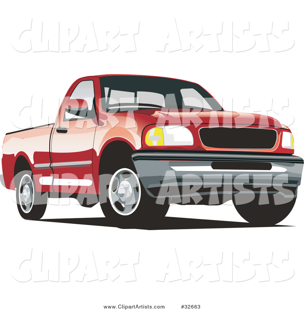 Red Ford F-150 Pickup Truck