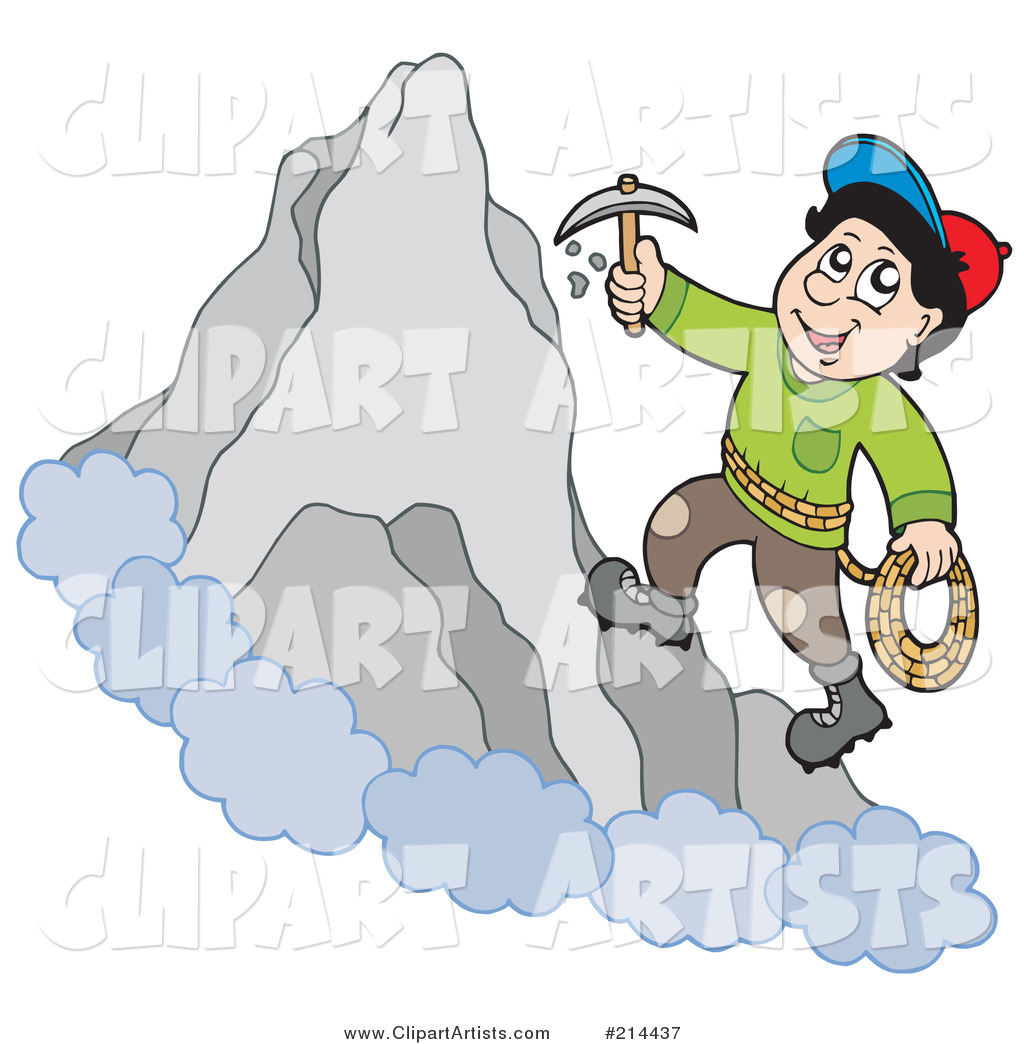 Rock Climber on a Mountain