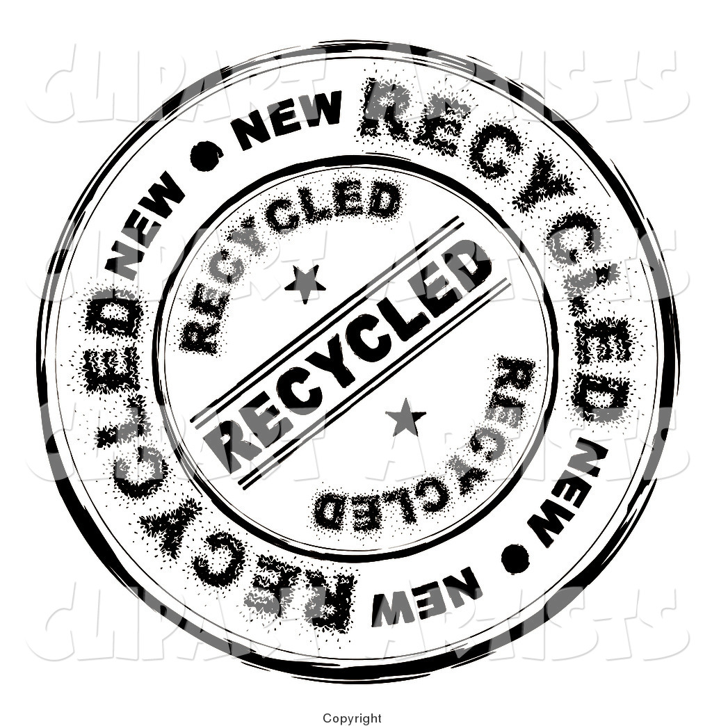Round Distressed Recycled Ink Stamp