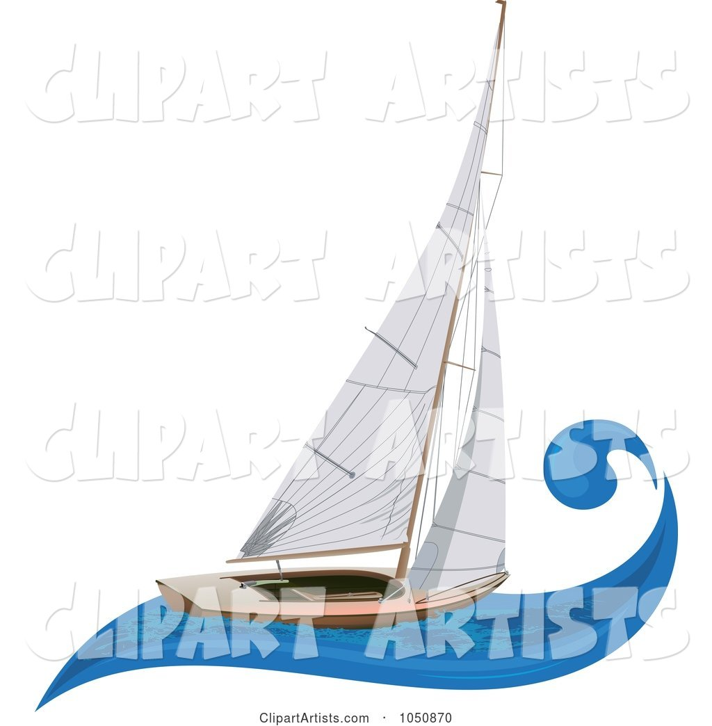 Sailboat on a Blue Wave