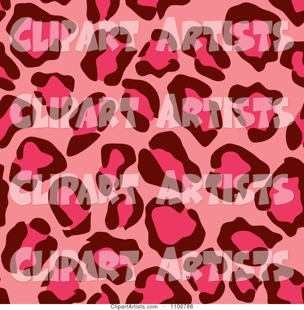 Seamless Pink Leopard Print Background Pattern 2