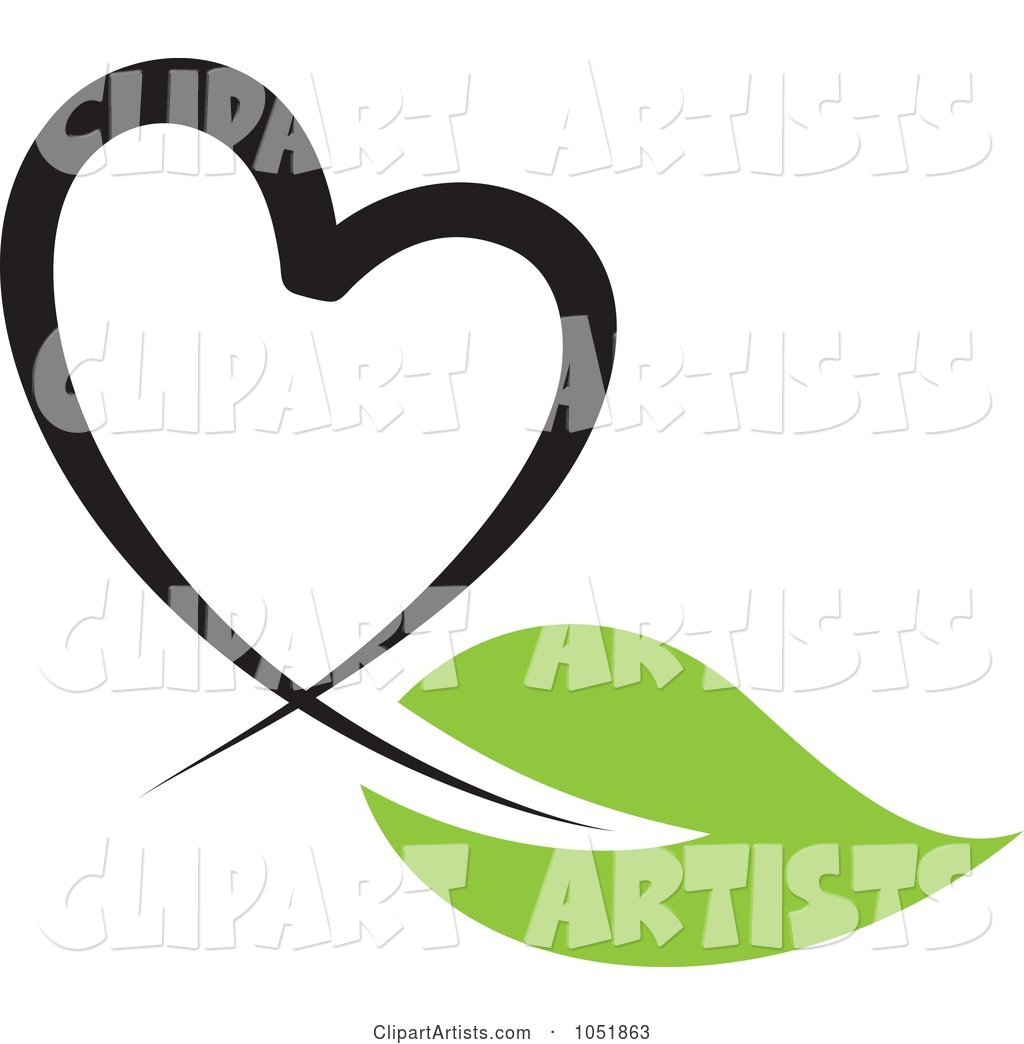 Seedling Plant Ecology Heart Logo