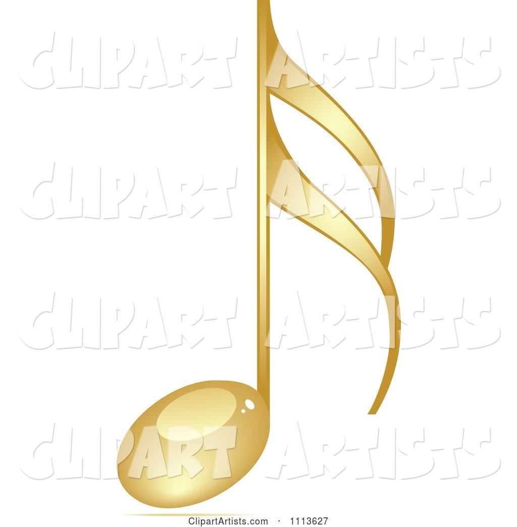 Shiny Gold Music Note