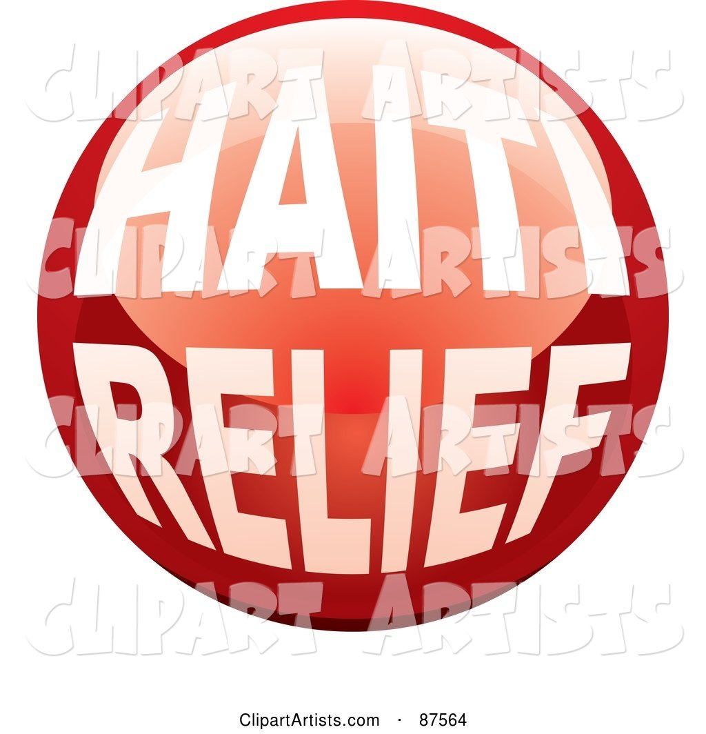 Shiny Red Haiti Relief Website Button