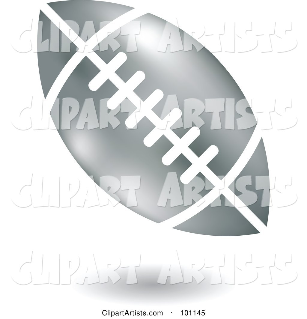 Shiny Silver American Football Logo Icon