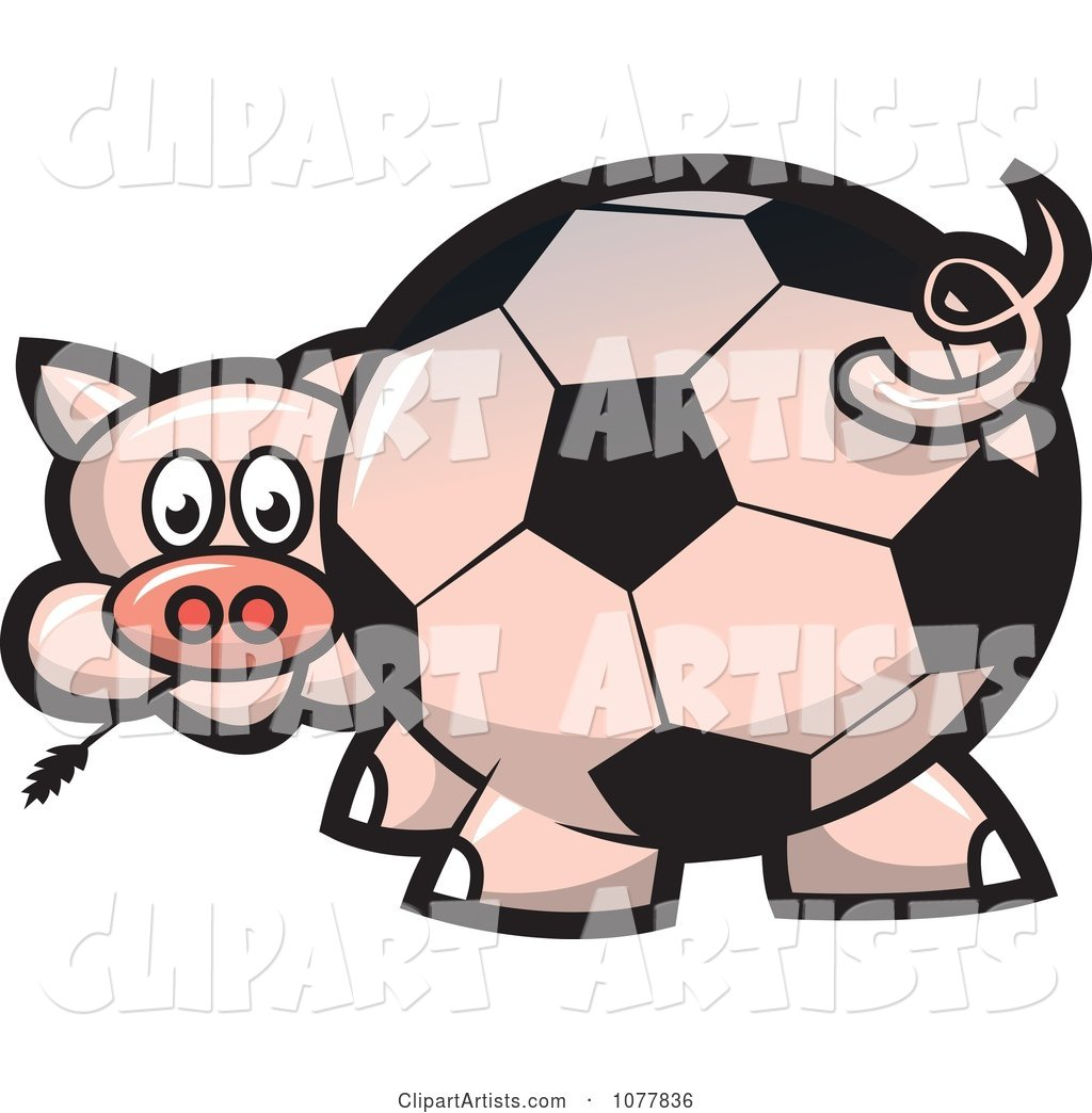 Soccer Ball Butt Pig