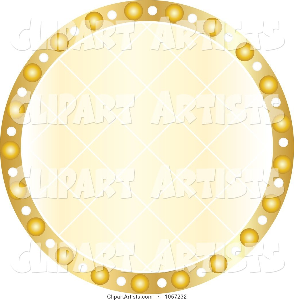 Sparkly Golden Circle