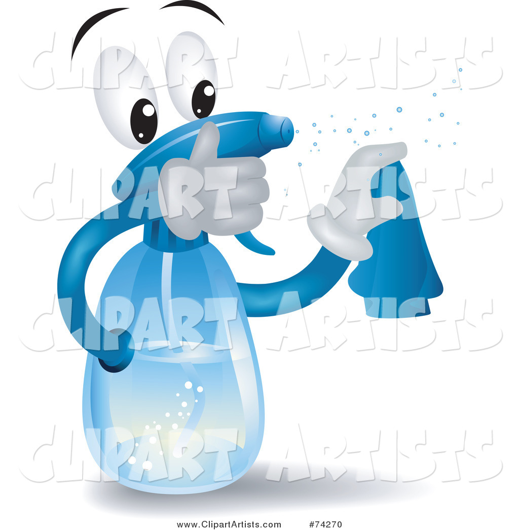 Spray Bottle Character Squirting