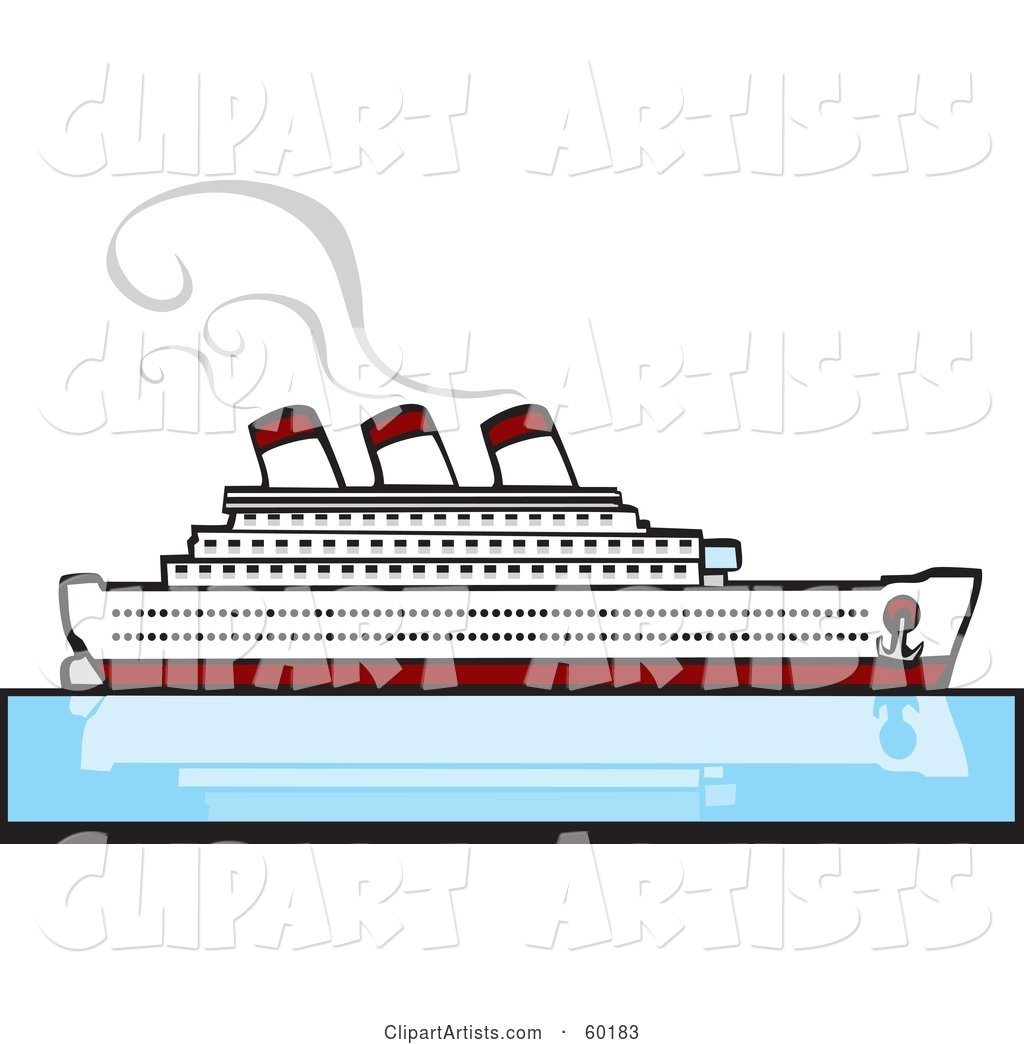 Steamer Cruise Ship on Still Blue Waters