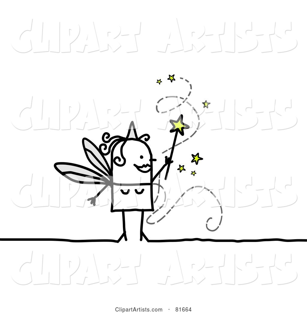 Stick People Fairy Granting Wishes