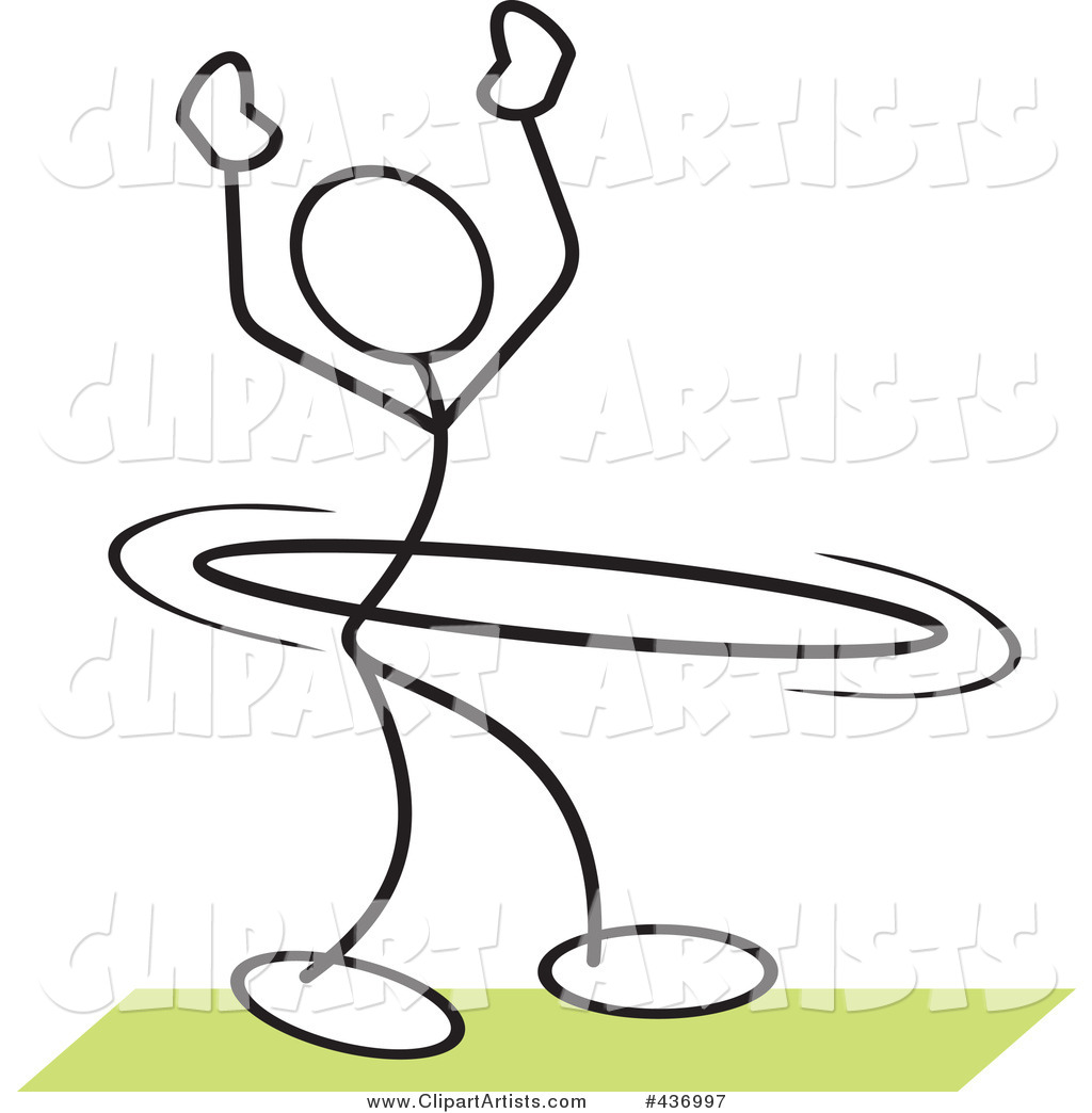 Stickler Stick Person Using a Hula Hoop - 3