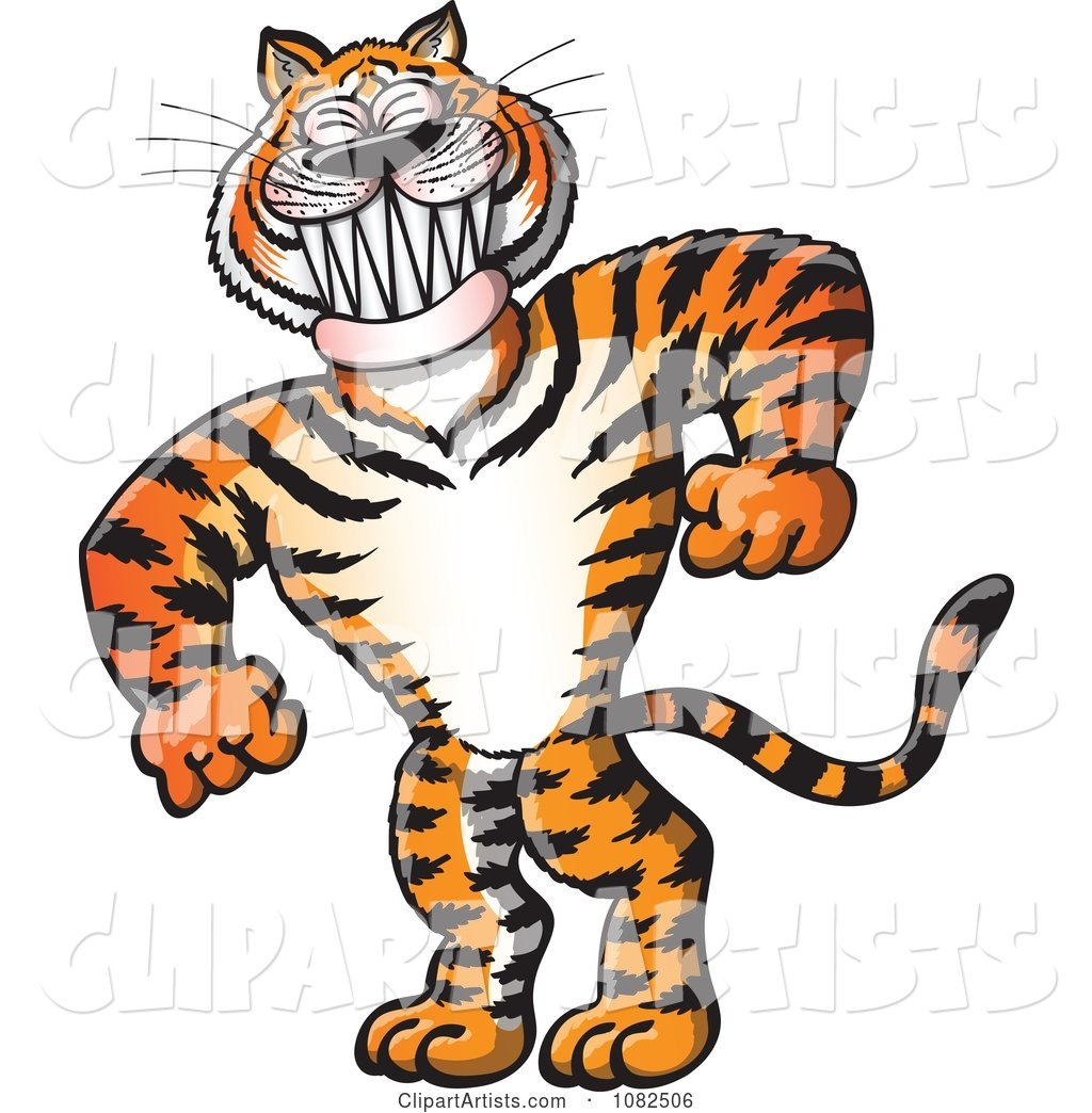 Strong Bully Tiger Grinning