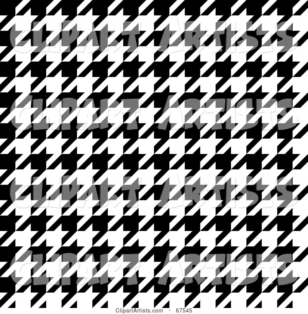 Tight Weave Black and White Houndstooth Patterned Background