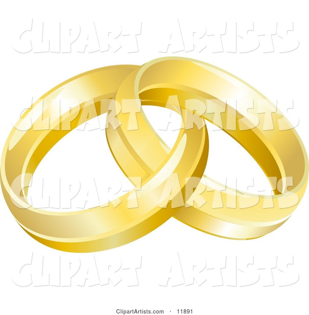 Two Entwined Golden Wedding Rings