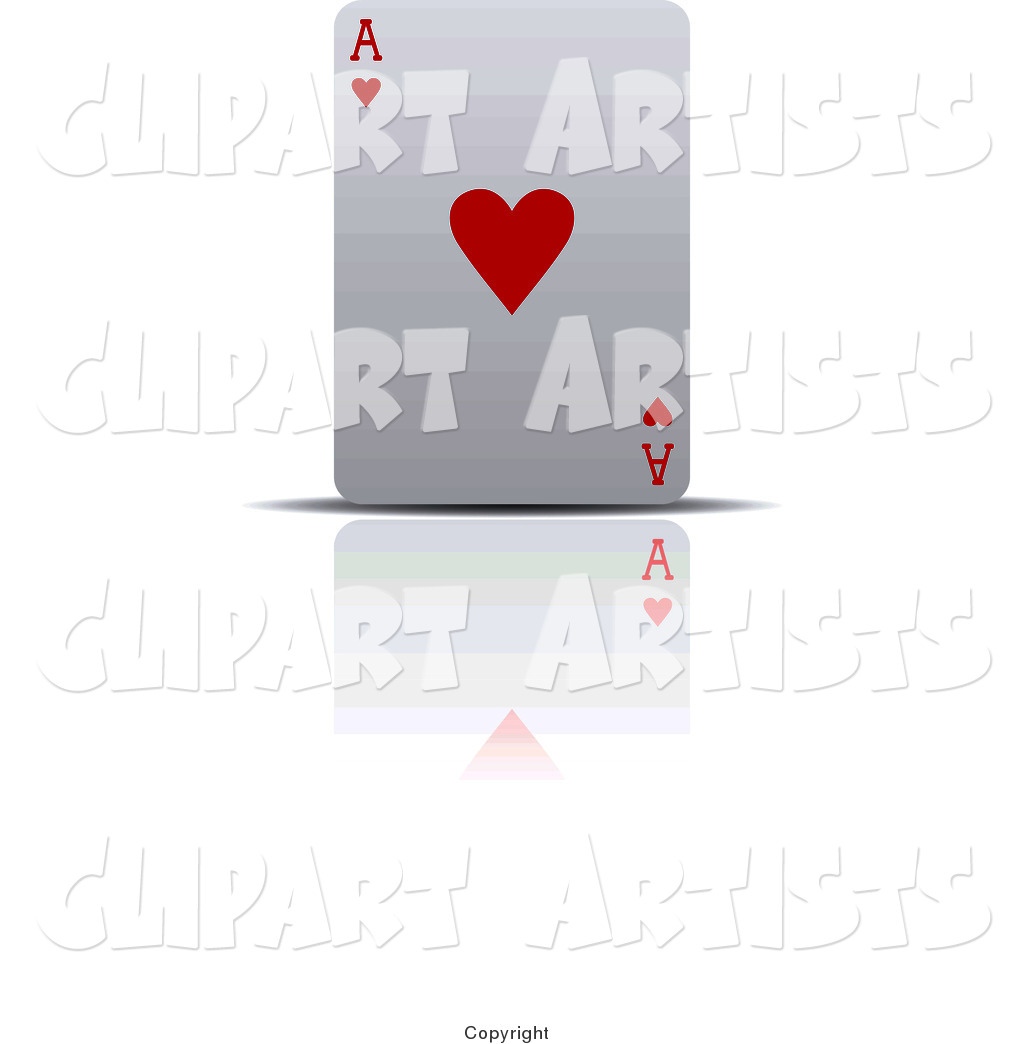 Upright Ace of Hearts Playing Card