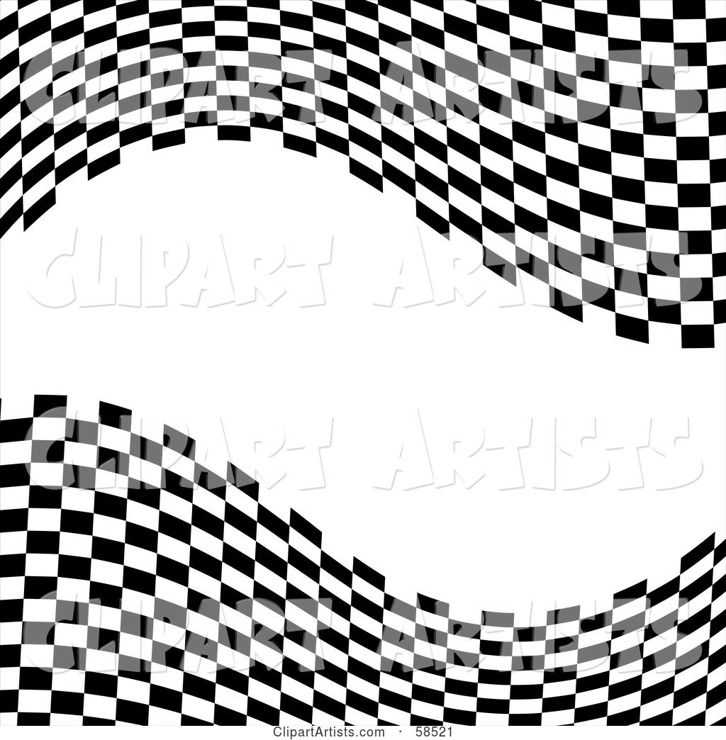 Waving Race Flag Background on White - Version 9