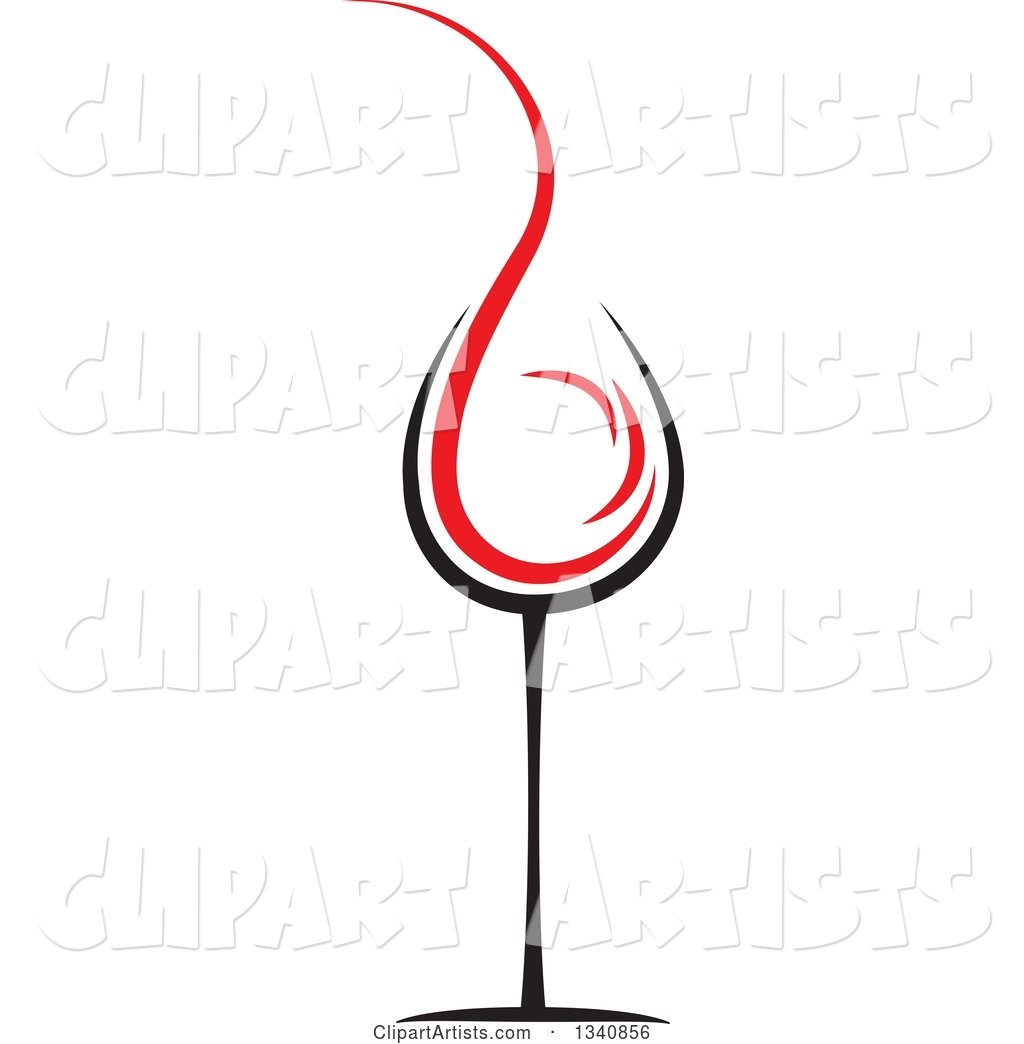 Wine Glass with a Red Splash