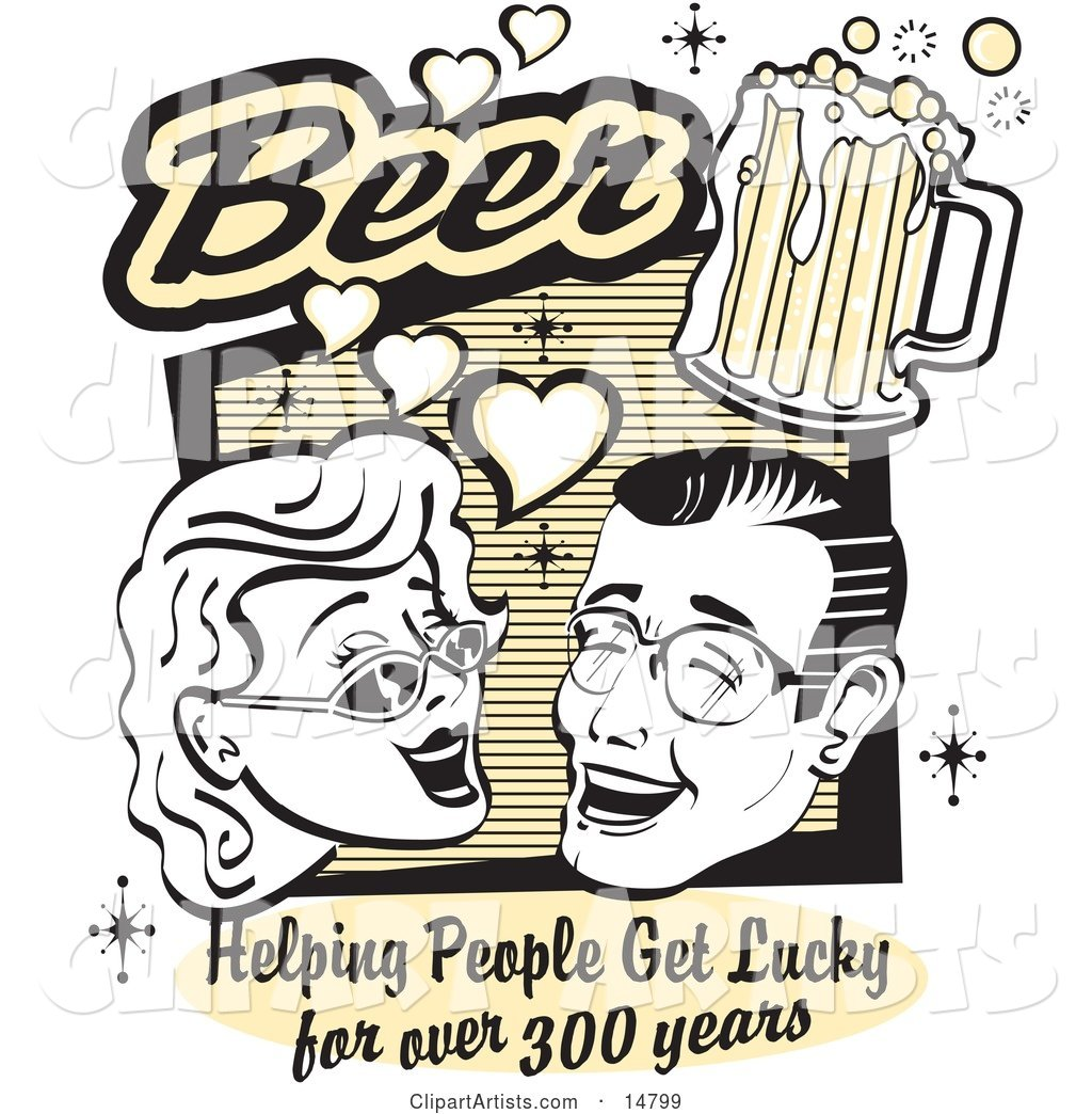 Woman and Man with Beer, Beer, Helping People Get Lucky for over 300 Years
