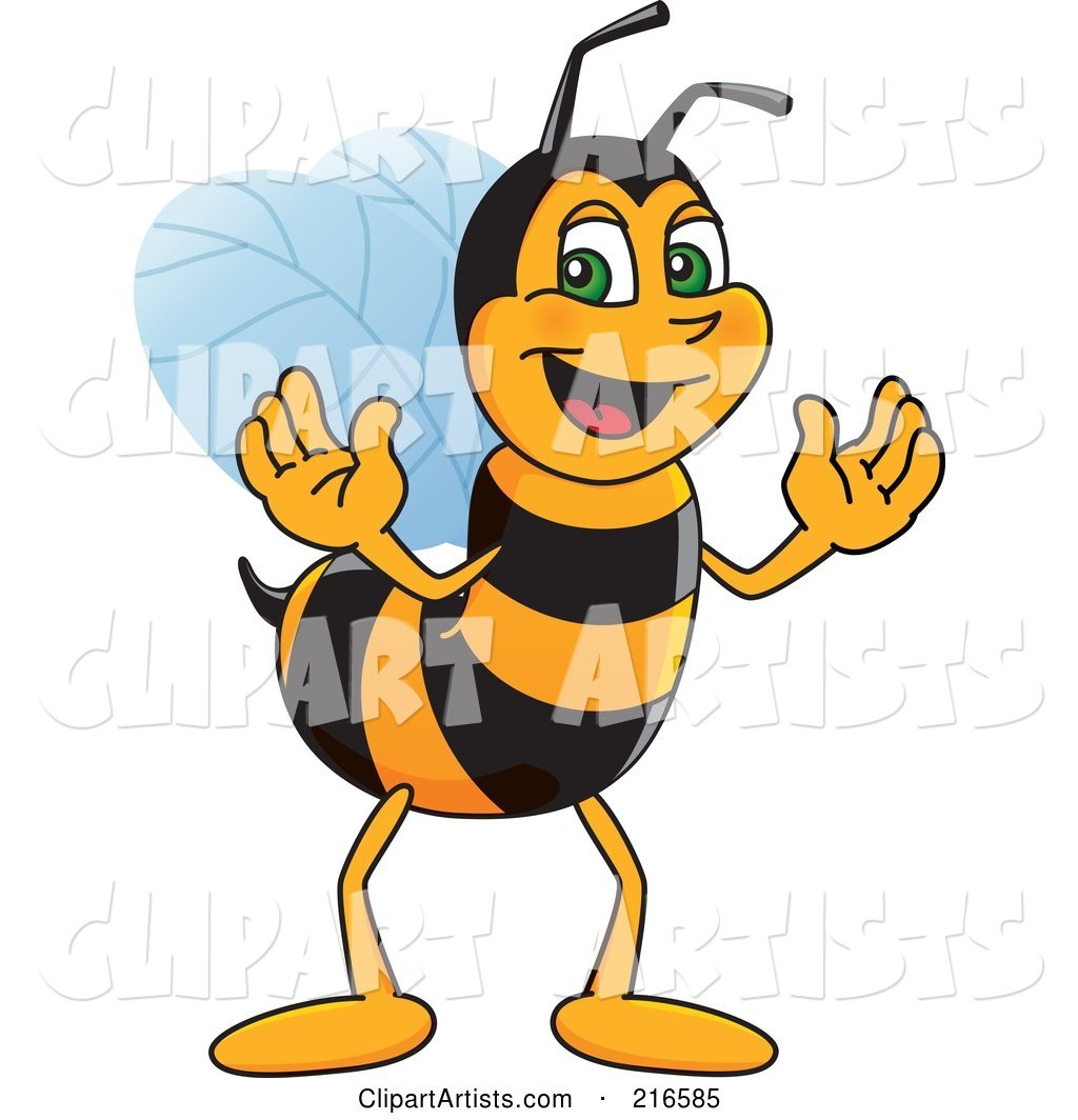 Worker Bee Character Mascot