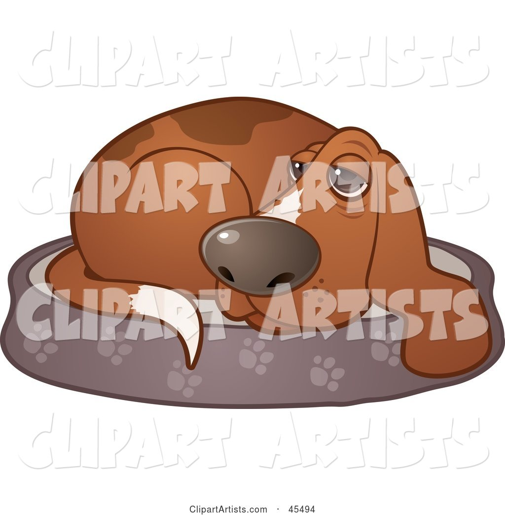 clipart dog in bed - photo #14